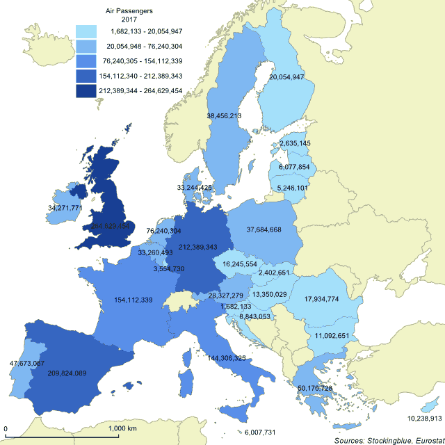 Air Travel in EU States